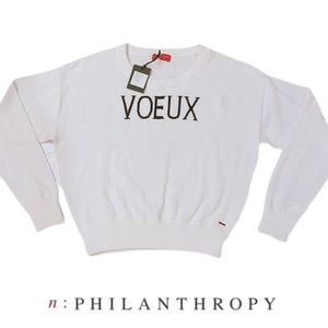 n:Philanthropy Voeux Sweater White Small NWT